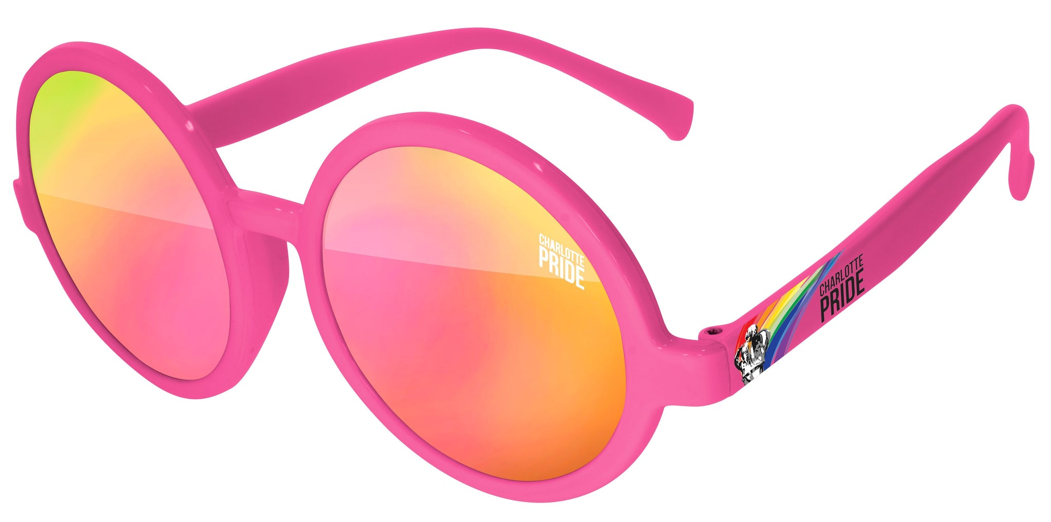 IM520 - Pride Iris Mirror Promotional Sunglasses w/ 1-color lens & temple imprint