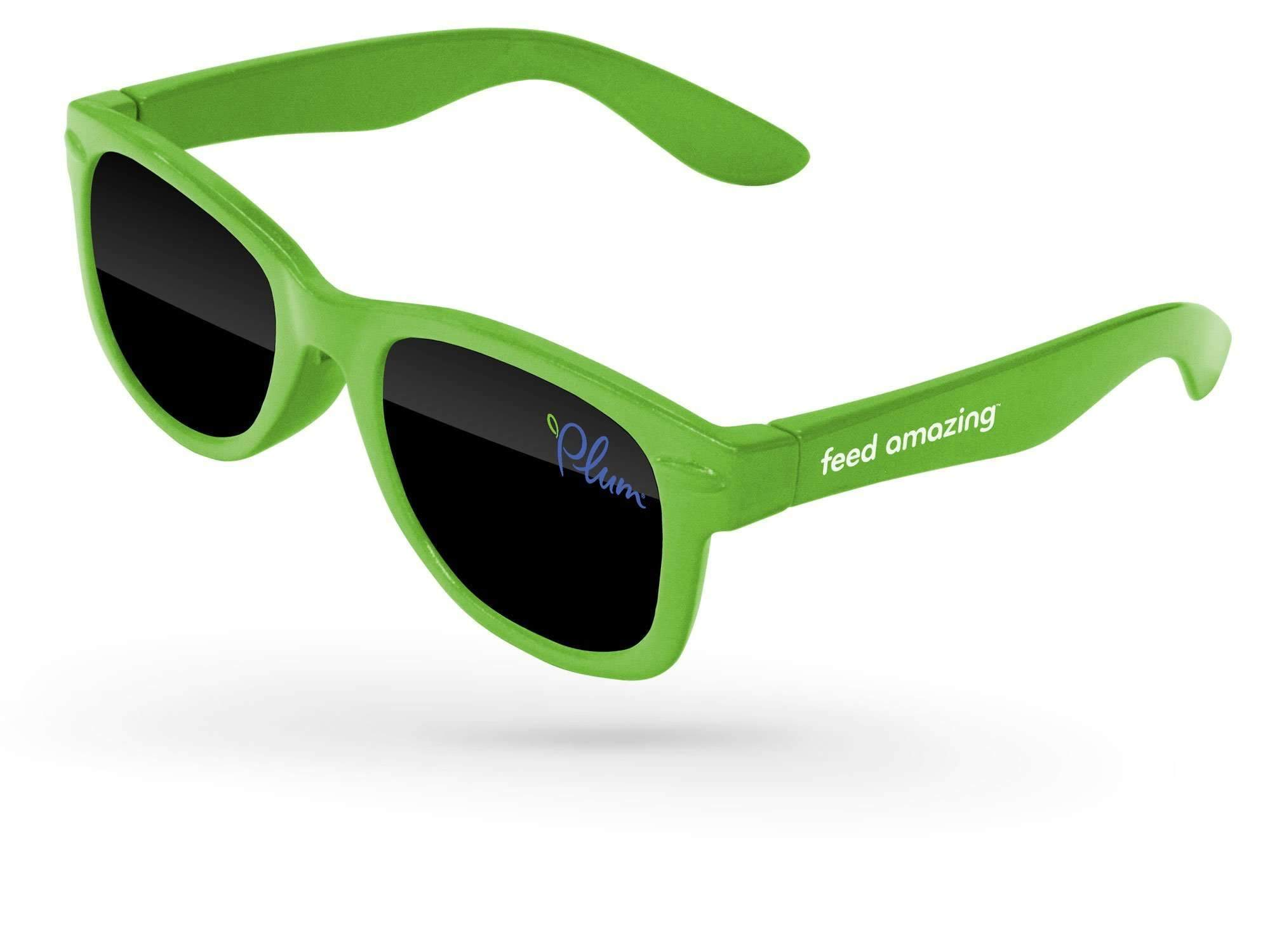 RD510-B - Infant Retro Promotional Sunglasses (0-3 years) w/ 1-color lens & temple imprint