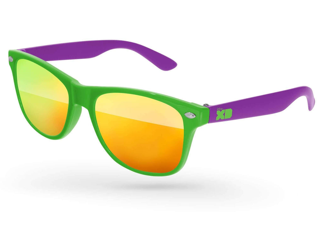 RM012-K - Kids 2-tone Retro Mirror Promotional Sunglasses (3 to 6 years) w/ 1-color temple imprint