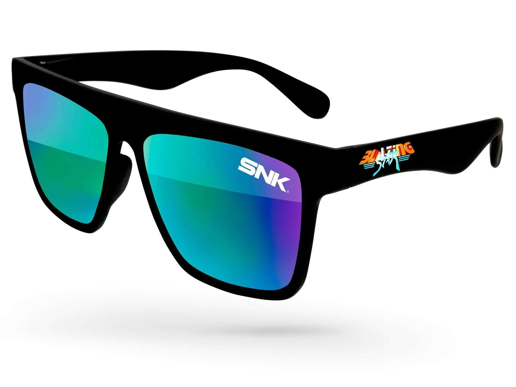 Laser Mirror Promotional Sunglasses w/ 1-color lens imprint & full-color temple imprint