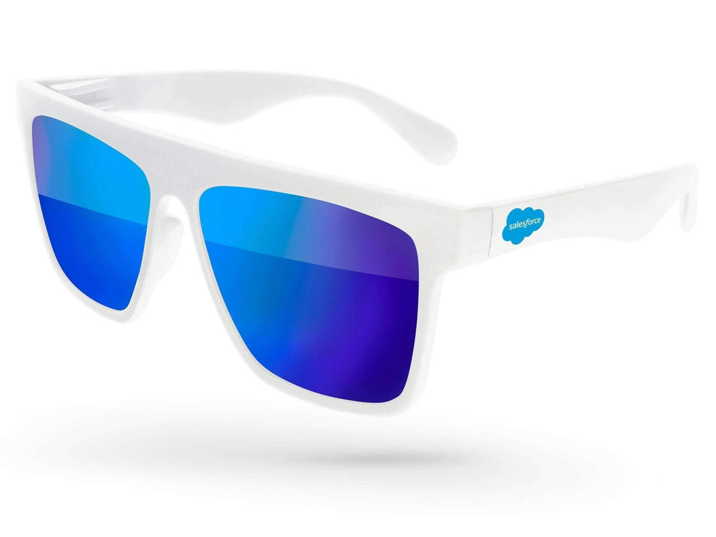 LM010 - Laser Mirror Promotional Sunglasses w/ 1-color temple imprint