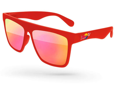 Laser Mirror Promotional Sunglasses w/ full-color temple imprint