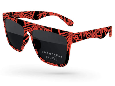 Laser Promotional Sunglasses w/ 1-color lens imprint & full-color full-frame sublimation wrap
