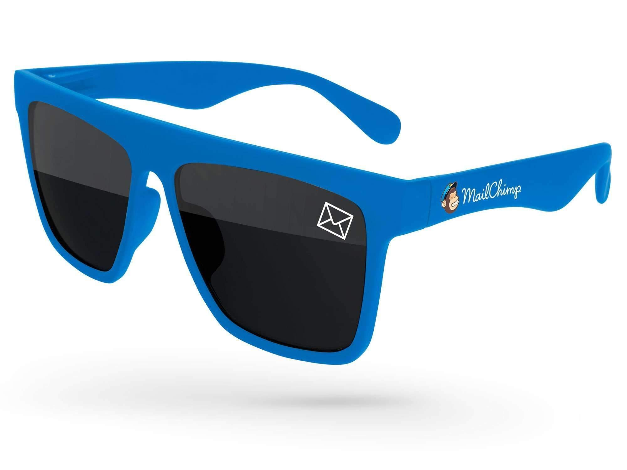 Laser Promotional Sunglasses w/ 1-color lens imprint & full-color temple imprint