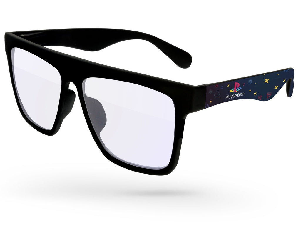 LB050 - Blue Light Blocking Laser Promotional Sunglasses w/ full color extended arms imprint