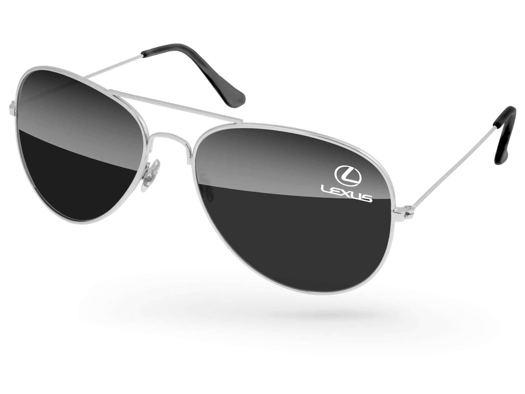 Metal Aviator Promotional Sunglasses w/ 1-color lens imprint