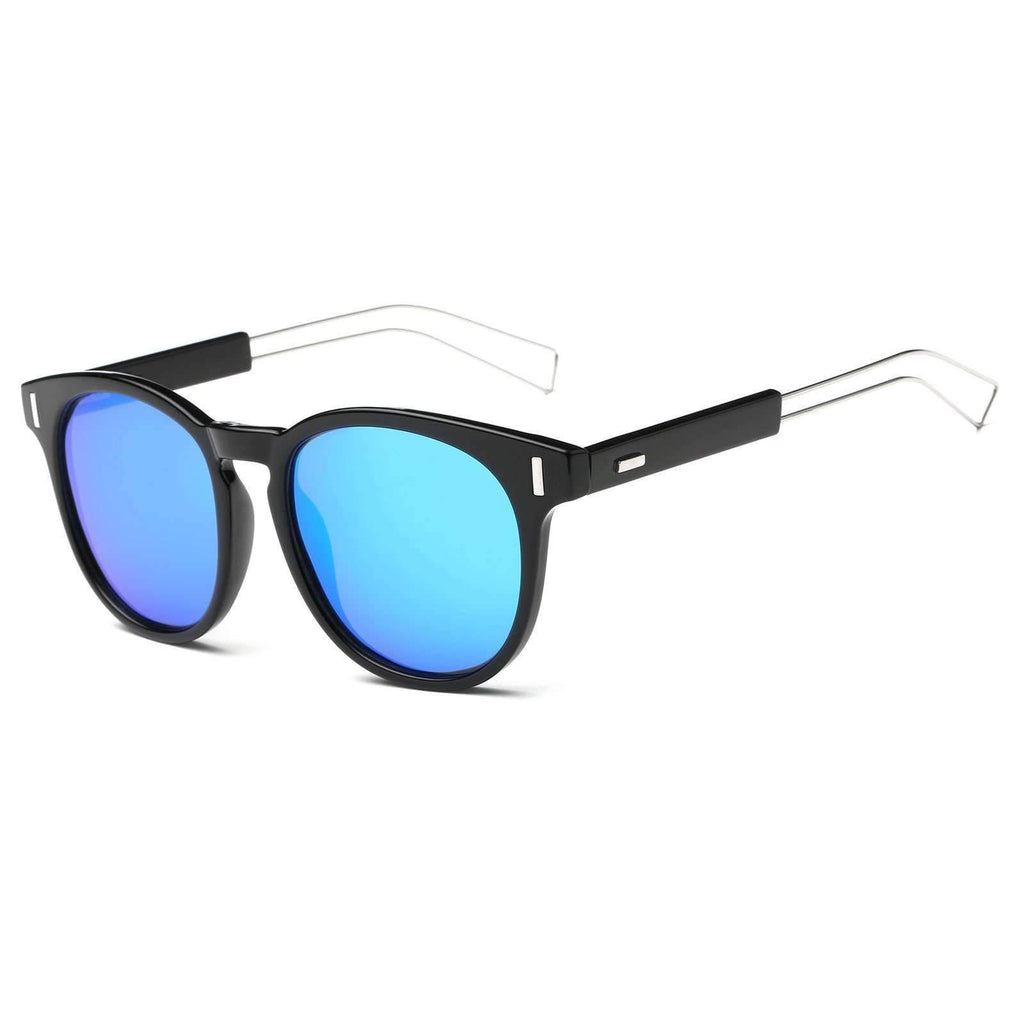 2018 - Metal Rim Euro Inspired Mirrored Sunglasses