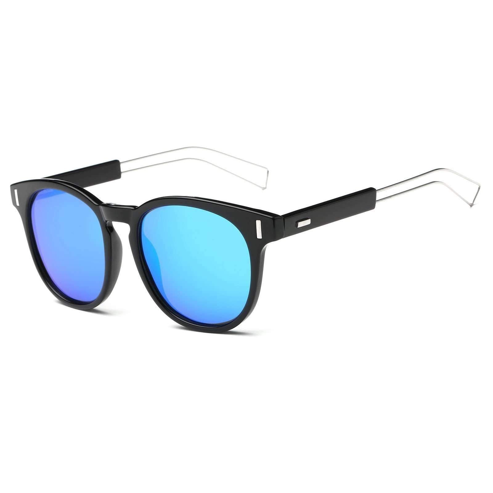 Metal Rim Euro Inspired Mirrored Sunglasses