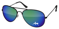 MM500 - Metal Aviator Mirror Promotional Sunglasses w/ 1-color lens imprint by Eyevertising