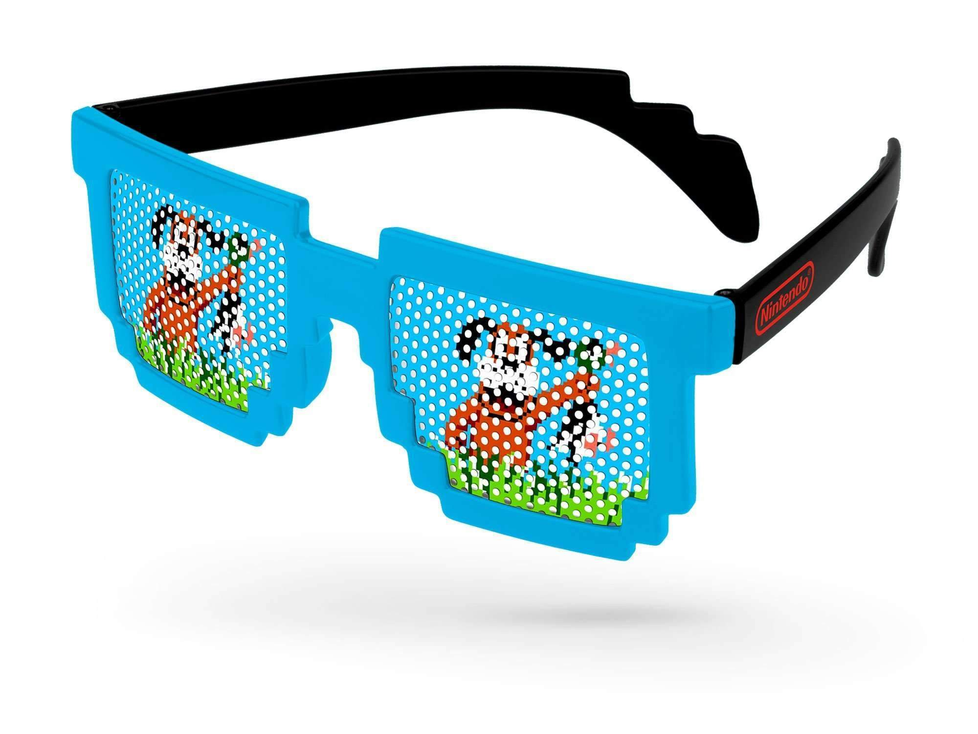 PC112 - 2-Tone Pixel Pinhole Promotional Sunglasses w/ 1-color lens imprint