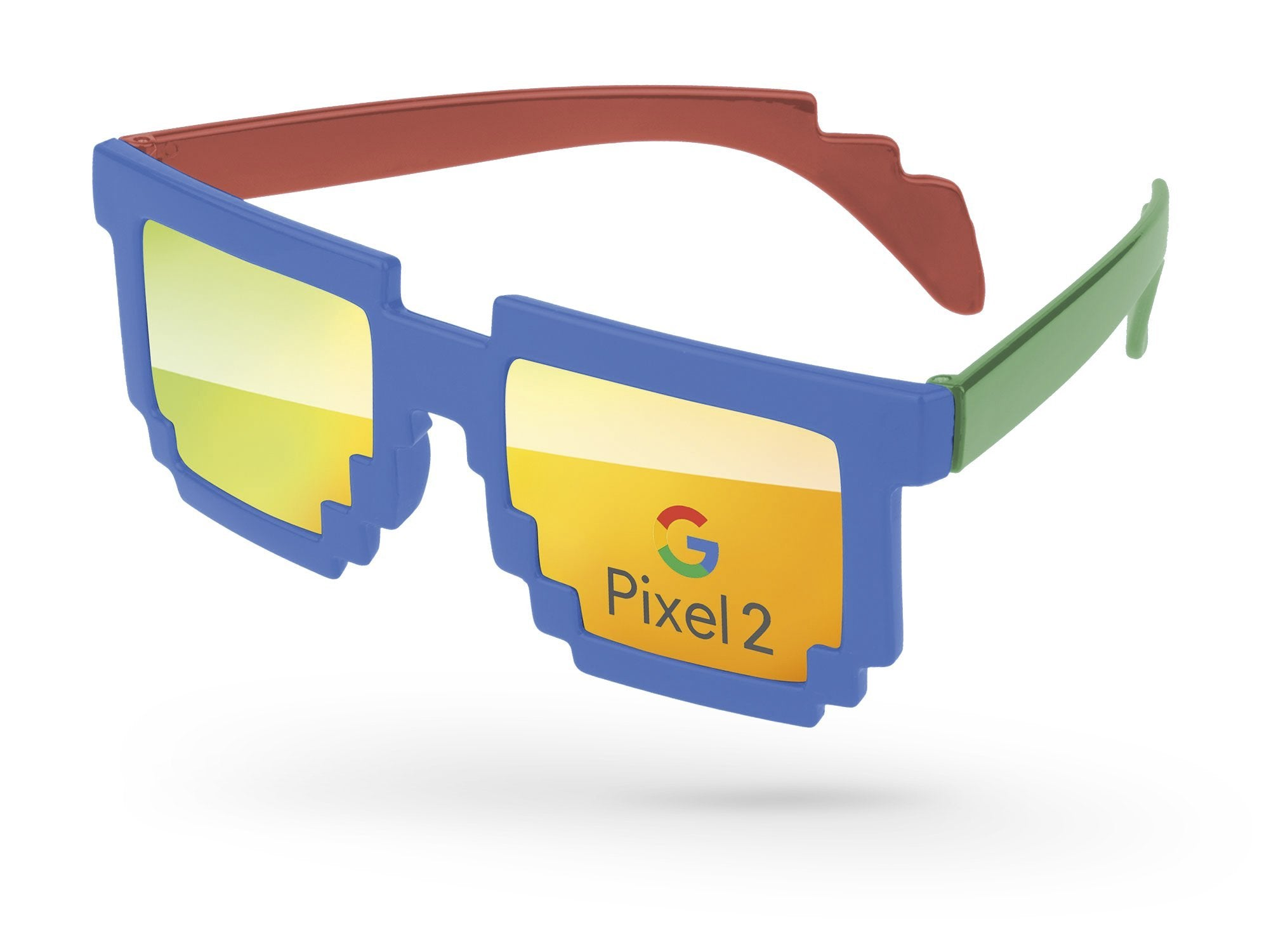 PM703 - 3-Tone Pixel Mirror Promotional Sunglasses w/ full-color lens imprint