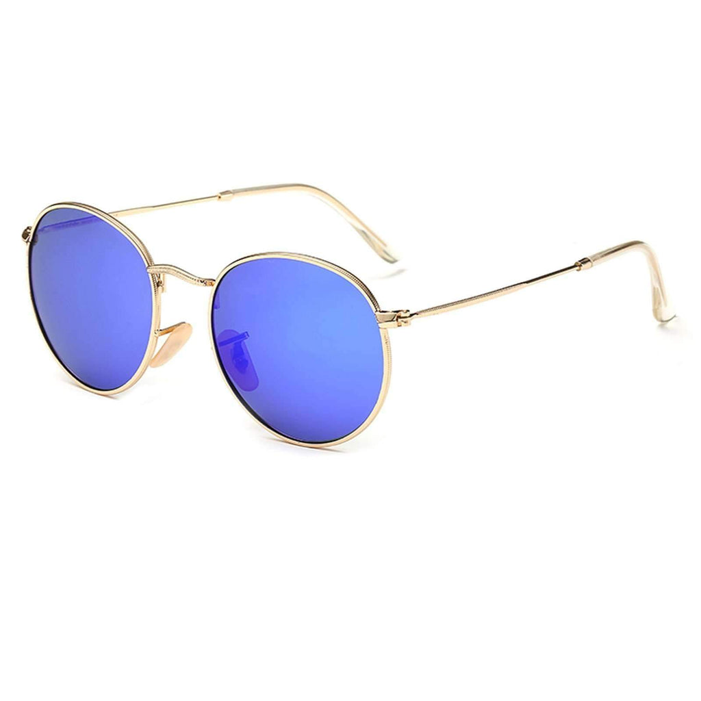 3447- Lennon Inspired Round Mirrored Promotional Sunglasses