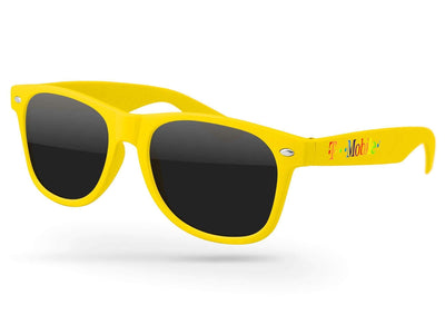 Pride Retro Promotional Sunglasses w/ full-color temple imprint