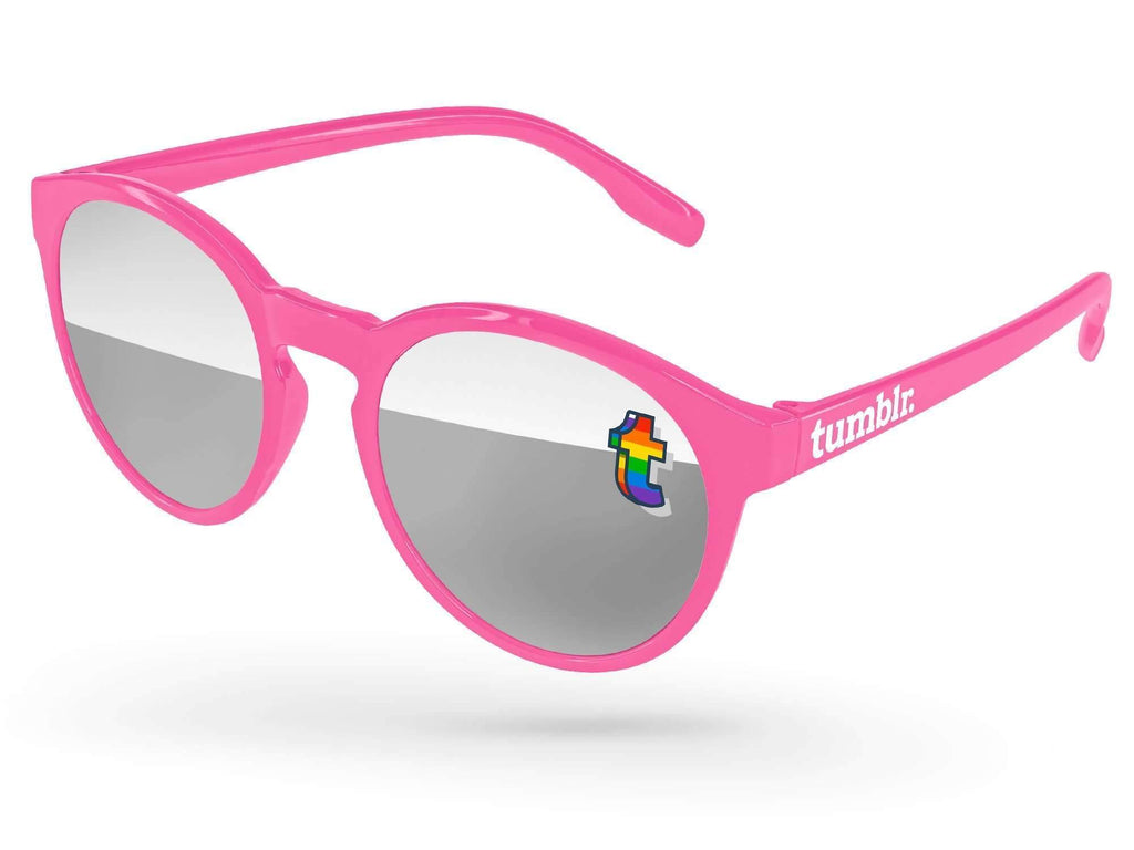VM710 - Pride Vicky Mirror Promotional Sunglasses w/ full-color lens imprint & 1-color temple imprint