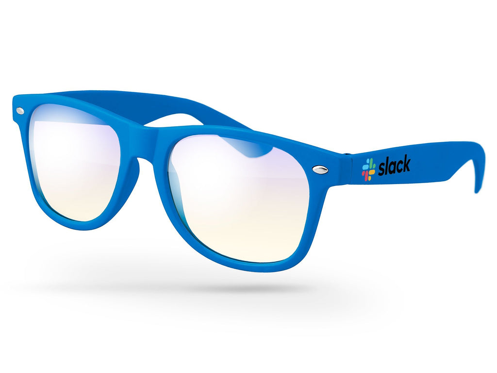 RB020 - Blue Light Blocking Retro Promotional Glasses w/ full-color imprint