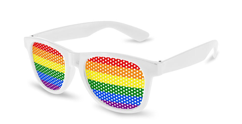 RC100-P - Pride Value Retro Pinhole Promotional Sunglasses