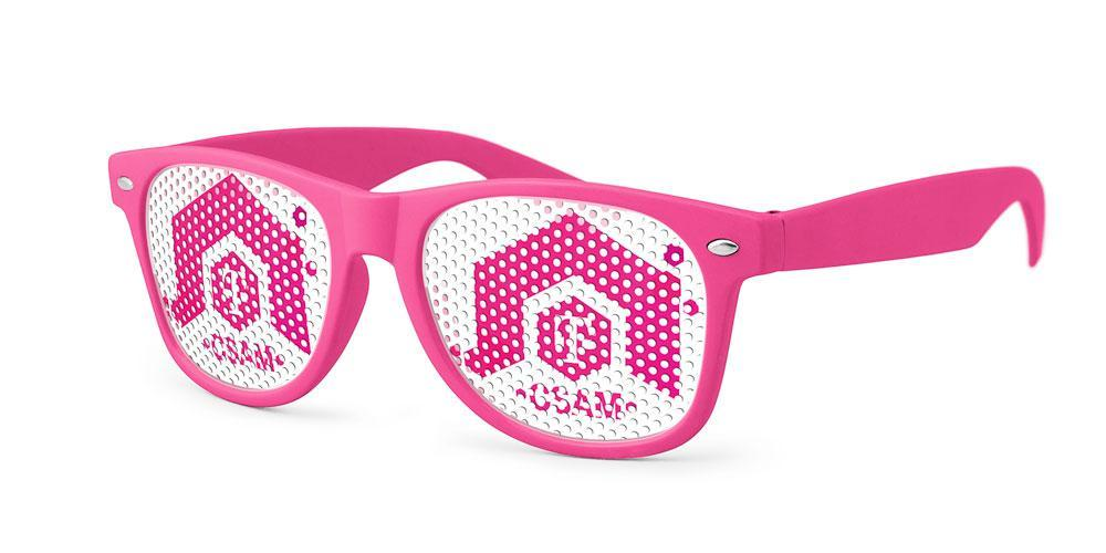 RC100 - Retro Pinhole Promotional Sunglasses
