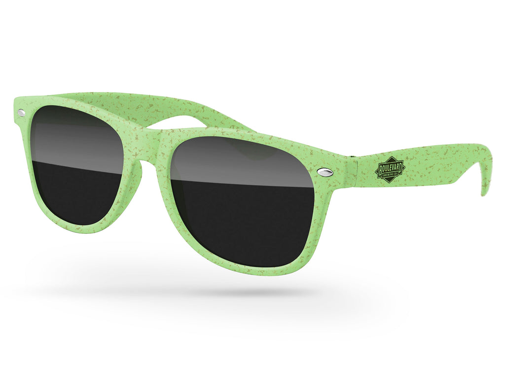 RD010-H - Wheat Retro Promotional Sunglasses w/1-color temple imprint
