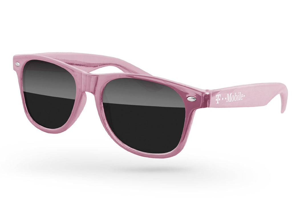 RD010-M - Rose Gold Metallic Retro Promotional Sunglasses w/ 1-color temple imprint