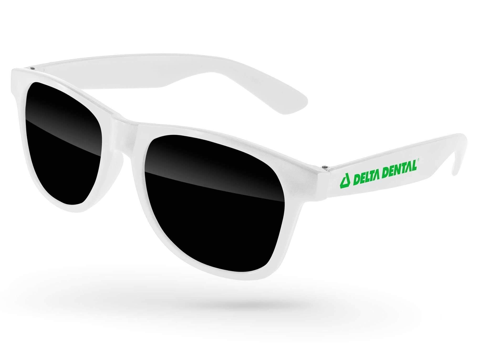 RD010-P-STK - Value Retro Promotional Sunglasses w/ 1-color temple imprint