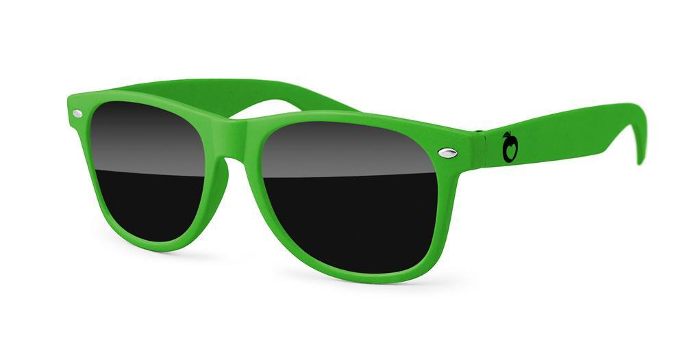 RD010 - Retro Promotional Sunglasses w/ one 1-color temple imprint