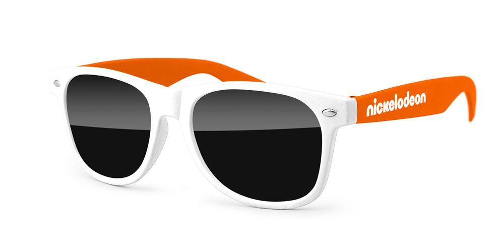 RD012 - 2-tone Retro Promotional Sunglasses w/ 1-color temple imprint (any color combination)