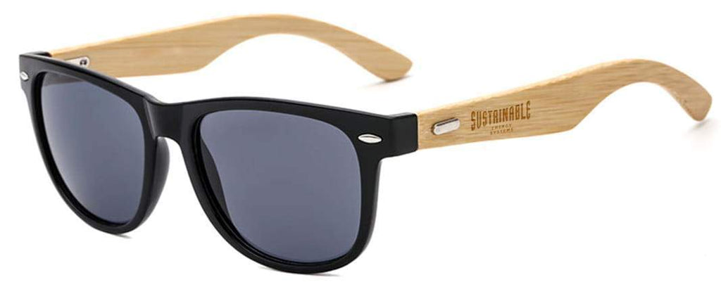 RD012-BB Bamboo 2-tone Retro Promotional Sunglasses