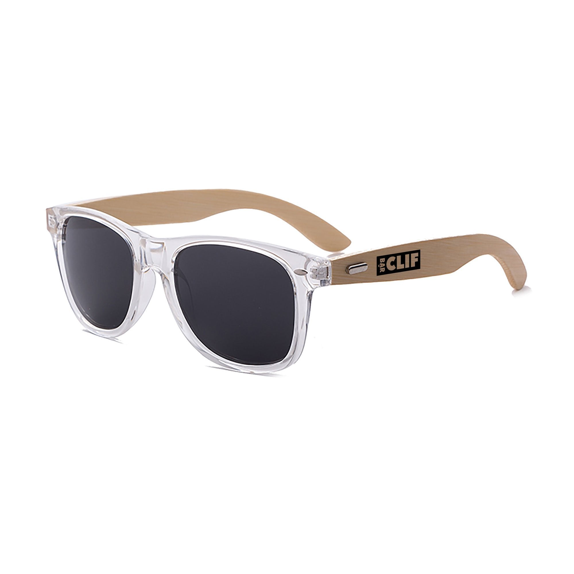 RD012-CBB Clear Bamboo 2-tone Retro Promotional Sunglasses