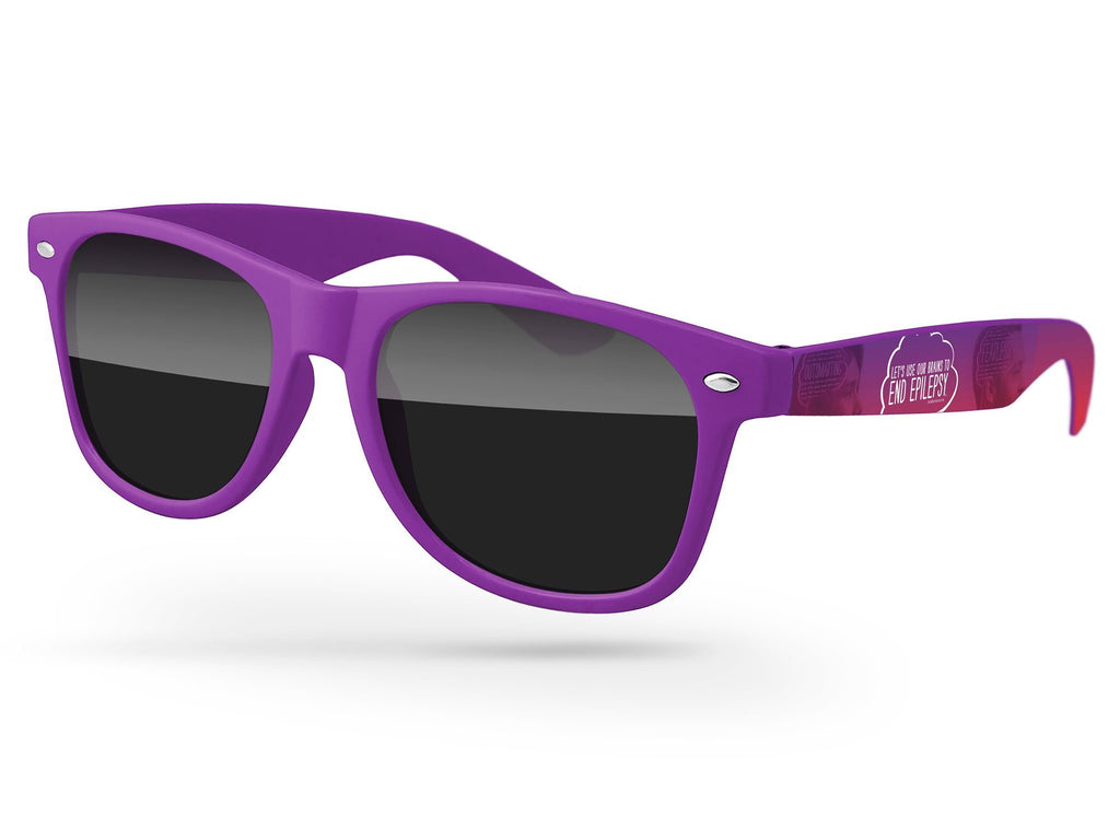 RD050 - Retro Promotional Sunglasses w/ full-color arms heat transfer