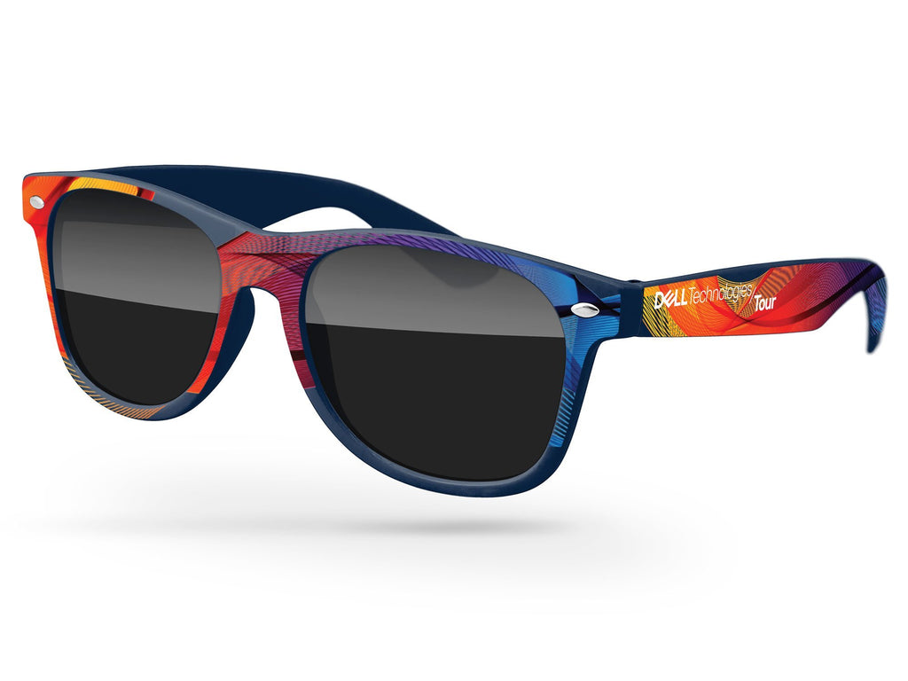 RD060 - Retro Promotional Sunglasses w/ full-color full-frame heat transfer