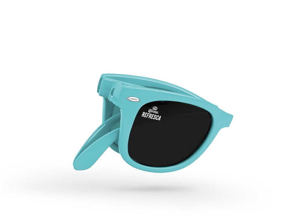RD500-F - Foldable Retro Promotional Sunglasses w/ 1-color lens imprint