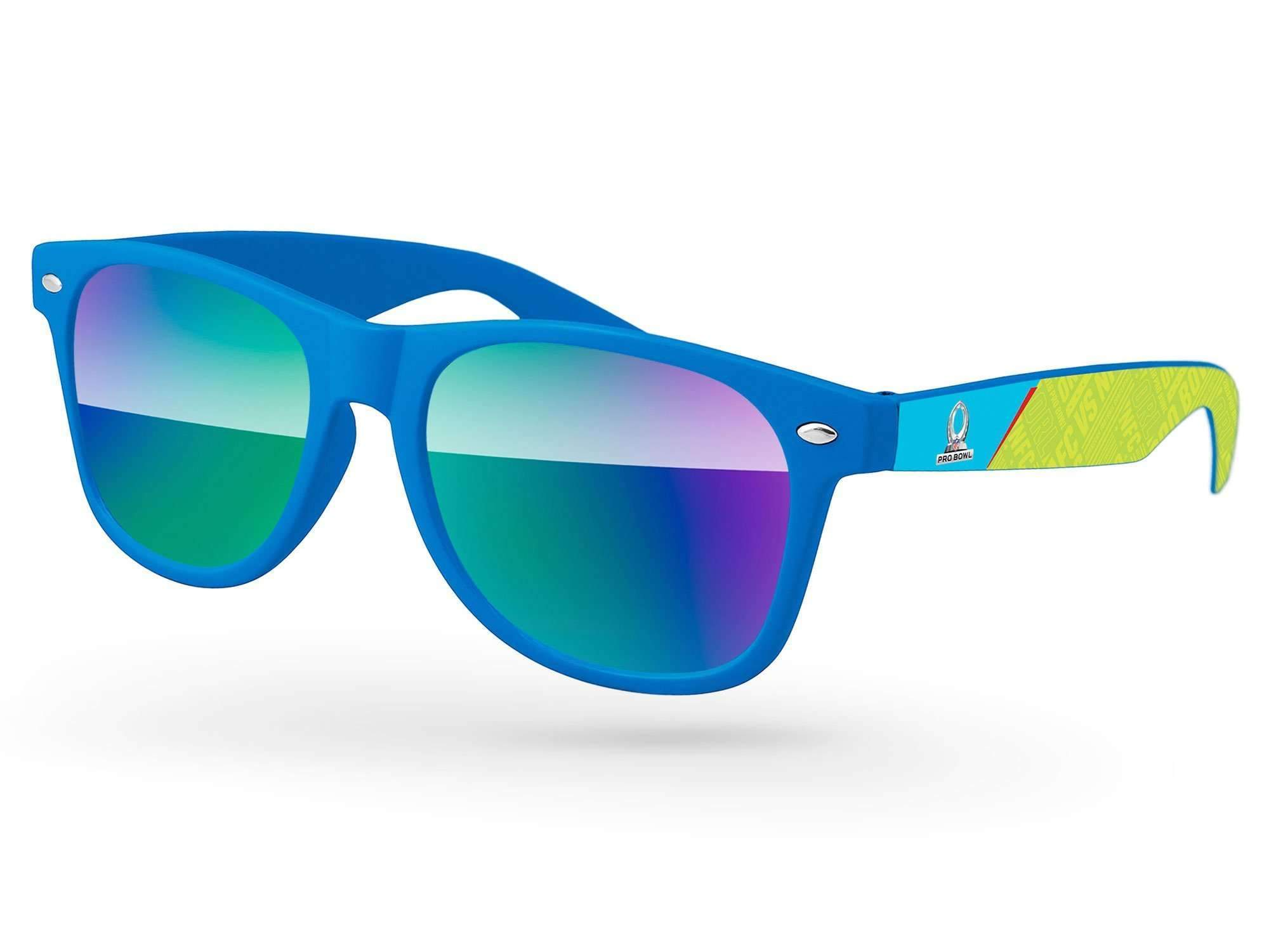 RM050 - Retro Mirror Promotional Sunglasses w/ full-color arms heat transfer