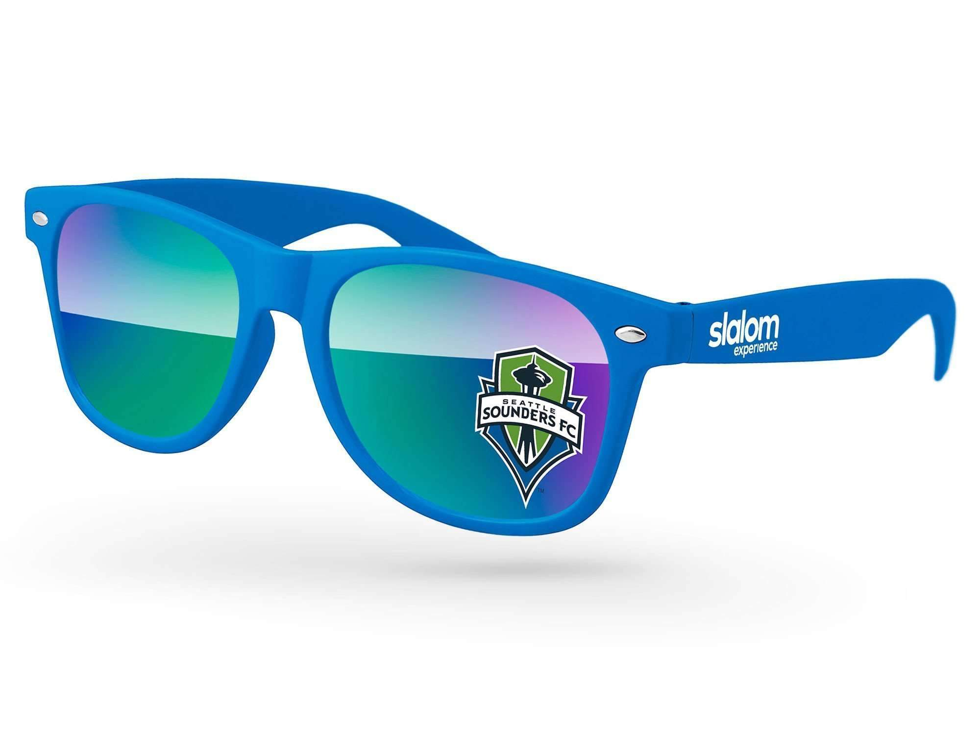 Retro Mirror Promotional Sunglasses w/ full-color lens imprint & 1-color temple imprint