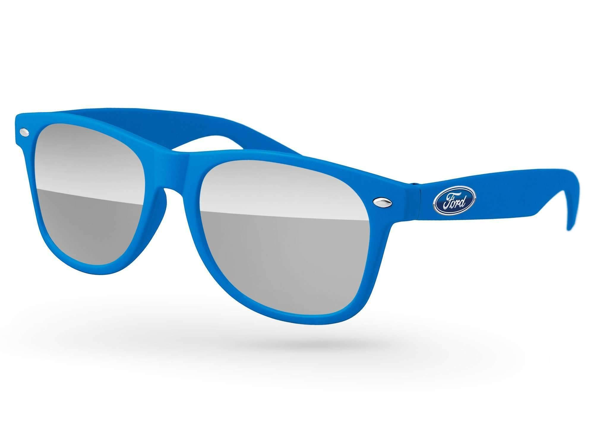 RM020 - Retro Mirror Promotional Sunglasses w/ full-color temple imprint
