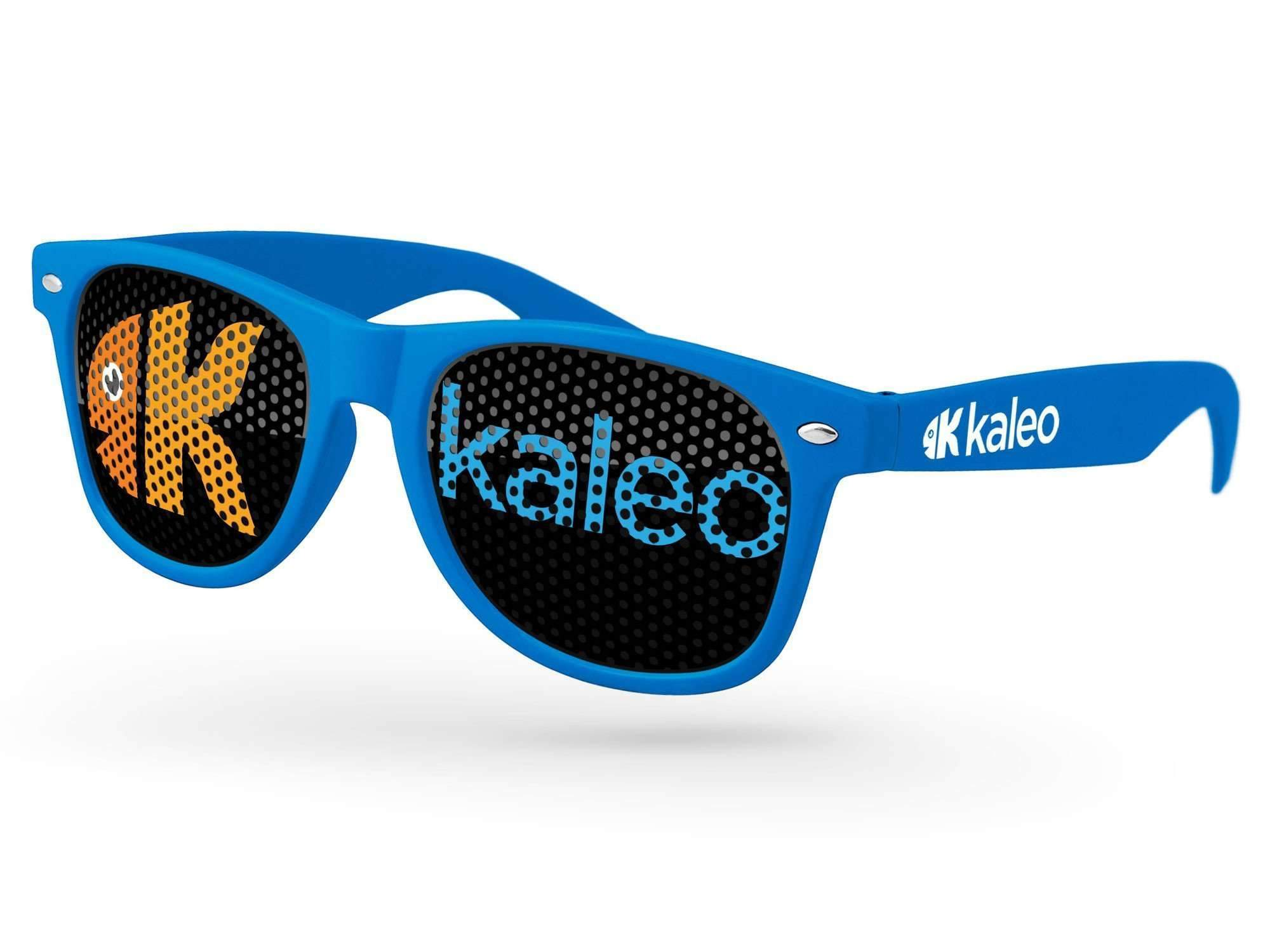 Retro Pinhole Promotional Sunglasses w/ 1-color temple imprint