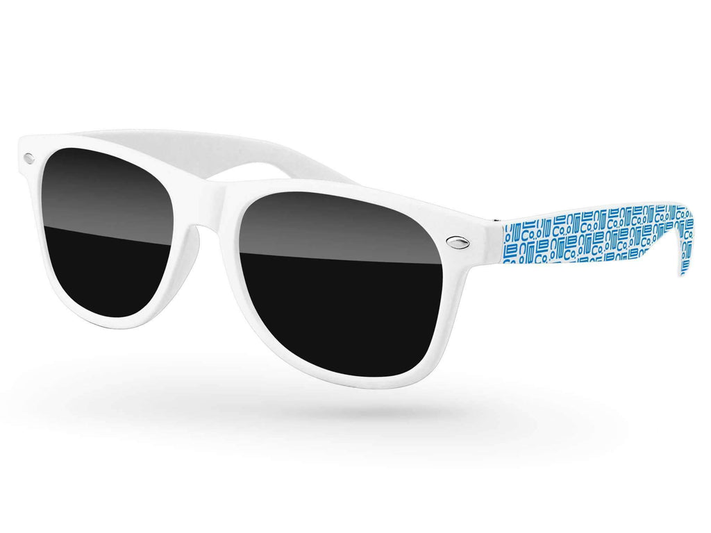 RD030 - Retro Promotional Sunglasses w/ 1-color extended arms imprint