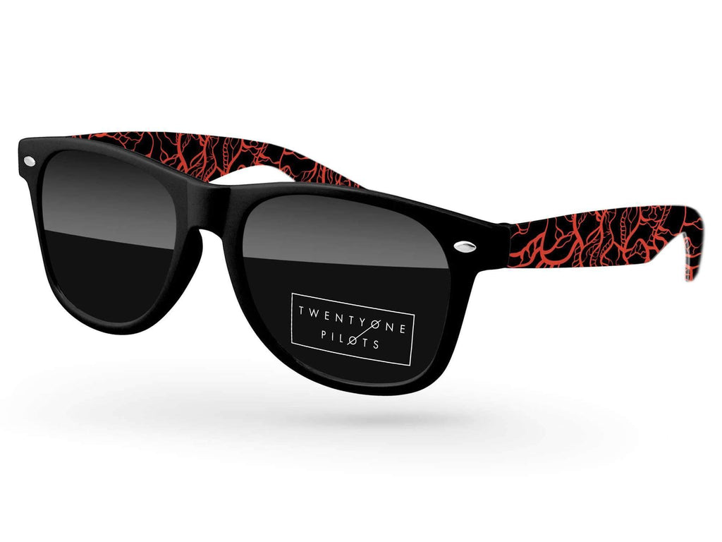RD580 - Retro Promotional Sunglasses w/ 1-color lens imprint & full-color arms sublimation wrap