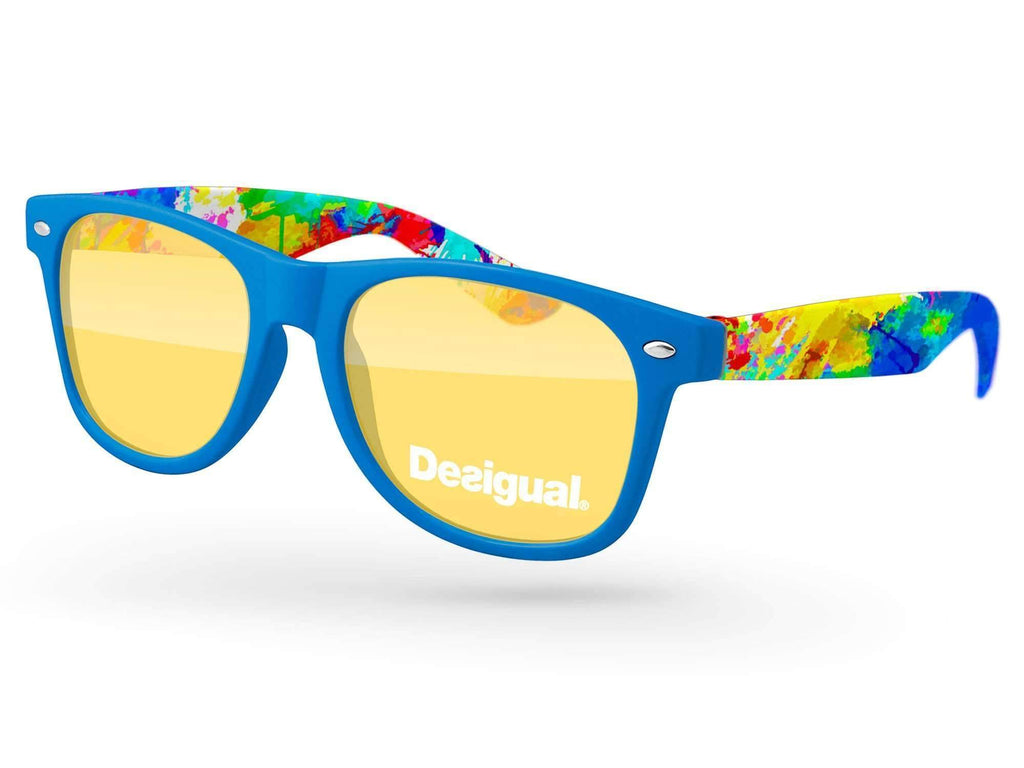 RT580 - Retro Promotional Sunglasses w/ 1-color lens imprint & full-color arms sublimation wrap