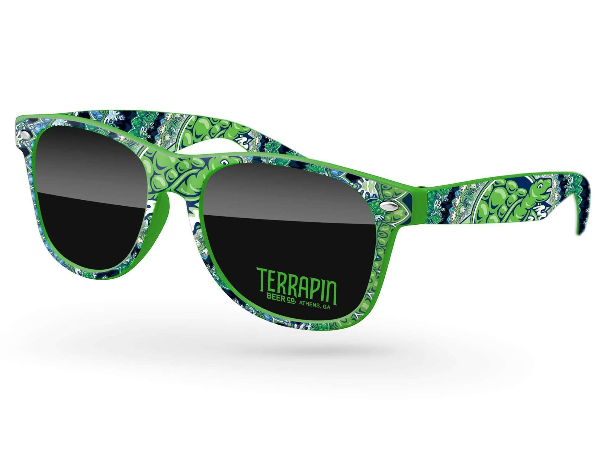 RD560 - Retro Promotional Sunglasses w/ 1-color lens imprint & full-color full-frame heat transfer