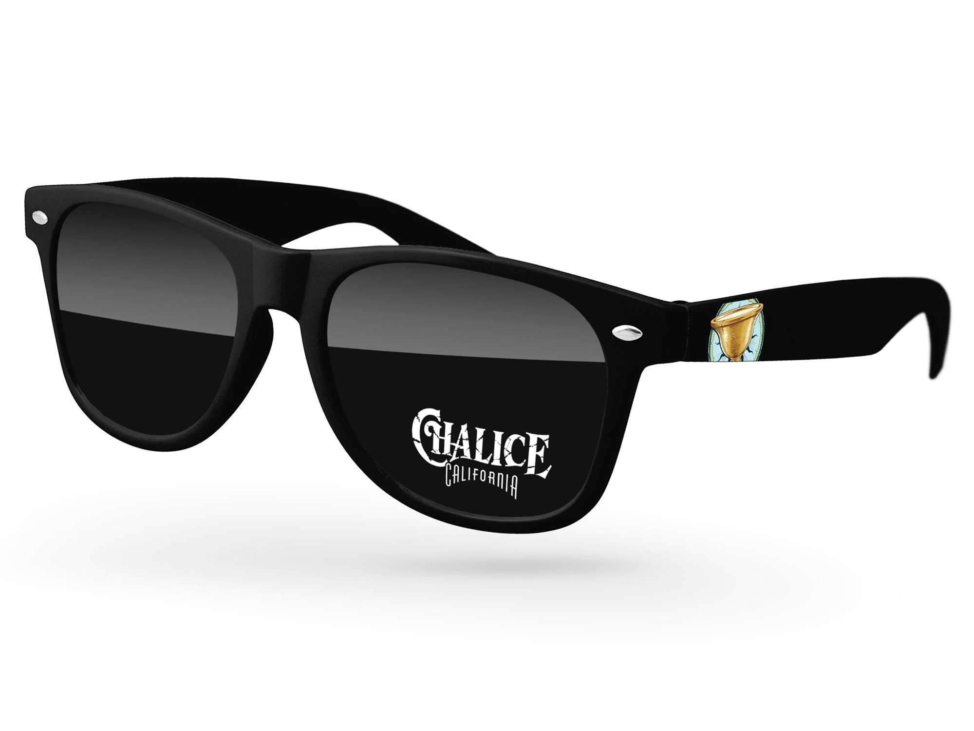 RD520 - Retro Promotional Sunglasses w/ 1-color lens imprint & full-color temple imprint