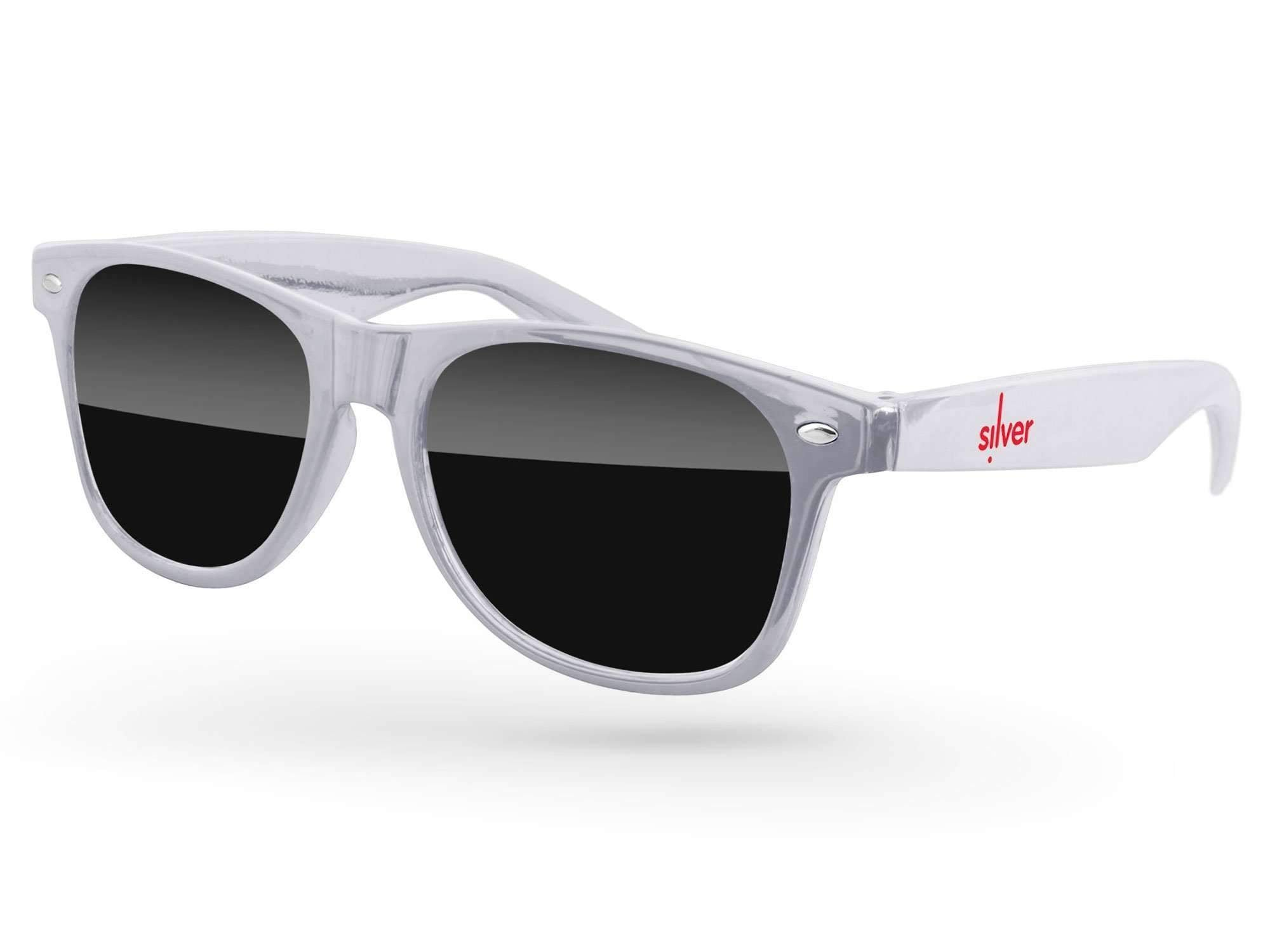 RD010-M - Metallic Retro Promotional Sunglasses w/ 1-color temple imprint