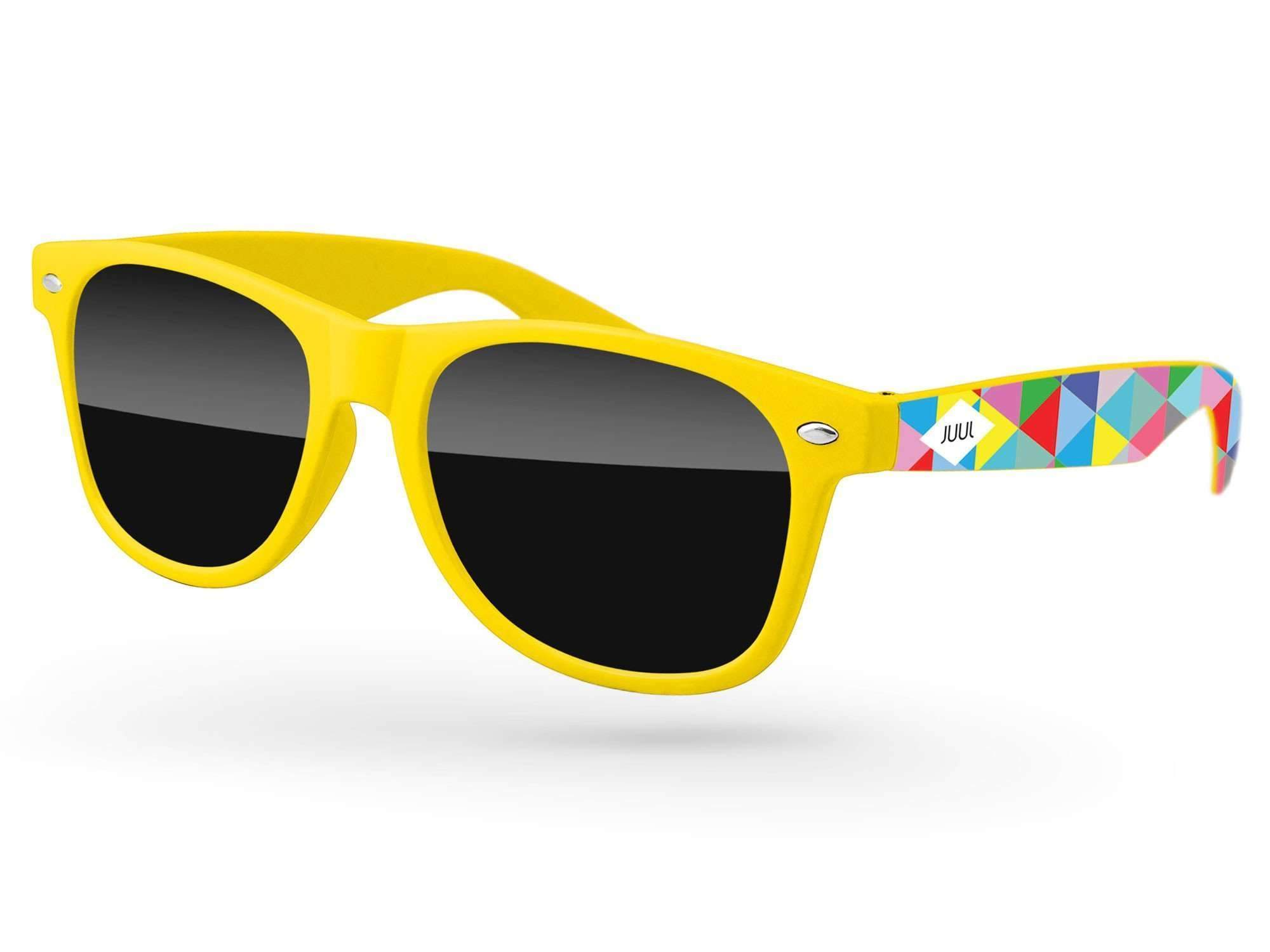 Retro Promotional Sunglasses w/ full-color arms heat transfer