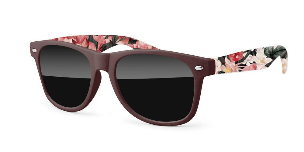 Retro Promotional Sunglasses w/ full-color arms sublimation wrap