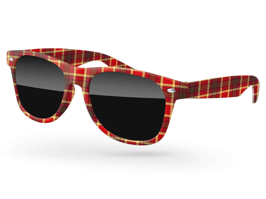 RD090 - Retro Promotional Sunglasses w/ full-color full-frame sublimation wrap