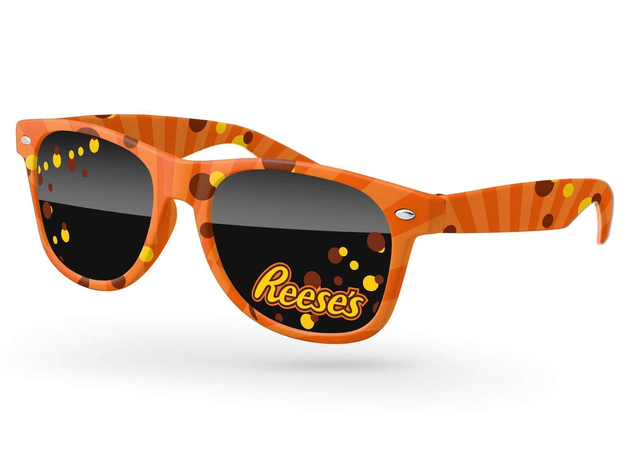 RD490 - Retro Promotional Sunglasses w/ full-color lens imprints & full-color full-frame sublimation wrap