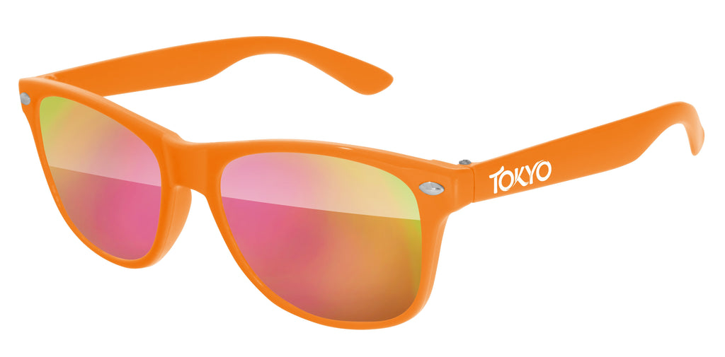 RM010-K - Kids Retro Promotional Sunglasses (3 to 6 years) w/ 1-color temple imprint