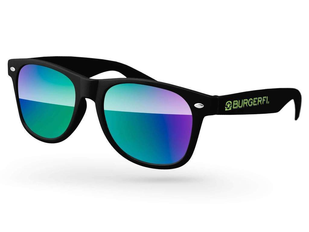 RM010 - STK Retro Mirror Promotional Sunglasses w/ 1-color temple imprint