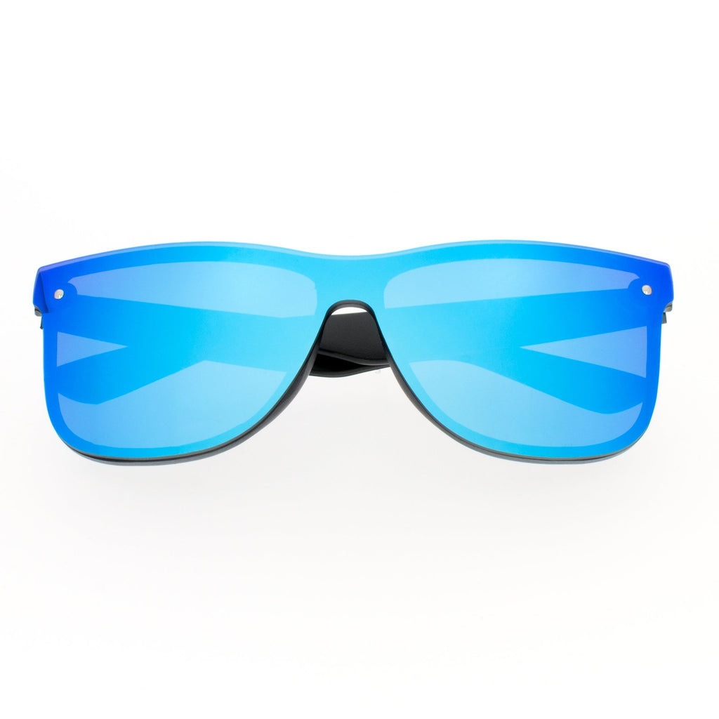 RM010-X Full Retro Mirrored Promotional Sunglasses w/ 1-color temple imprint