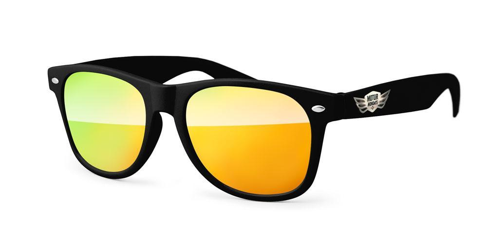 RM020 - STK Retro Mirror Promotional Sunglasses w/ full-color temple imprint