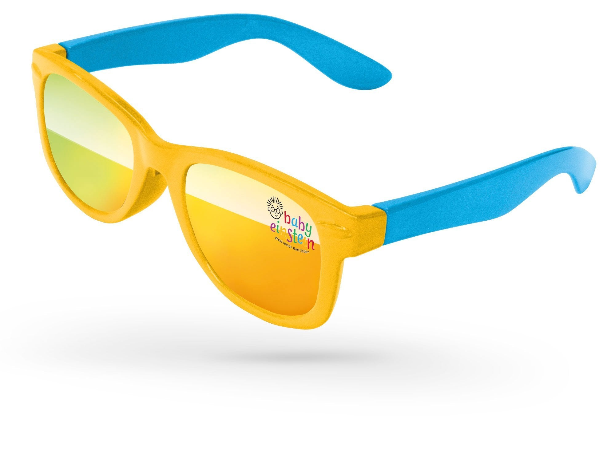 RM702-B - 2-Tone Infant Retro Promotional Sunglasses (0-3 years) w/ full-color lens imprint